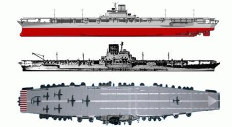Схема японскогоо авианосца